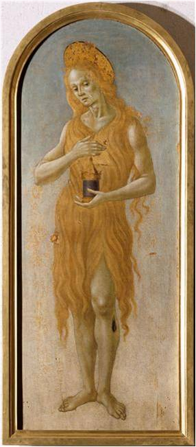 Fig. 7 : Bartolomeo di Giovanni, Sainte Marie Madeleine, XVe siècle, huile sur bois, 145 x 61 cm, Lille, Palais des Beaux-Arts.