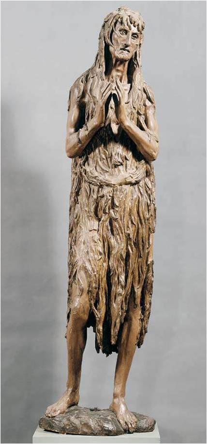 Donatello, Sainte Marie Madeleine, v. 1453, bois polychrome, 188 cm de haut, Florence, Museo dell'Opera del Duomo.