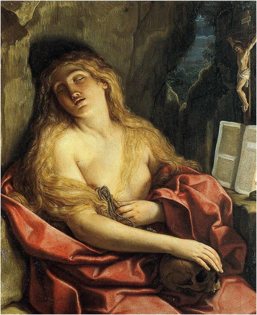 Fig. 5 : Elisabetta Sirani, Marie Madeleine pénitente, 1663, huile sur toile, 113.5 x 94 cm, Besançon, Musée des Beaux-Arts et d'Archéologie.
