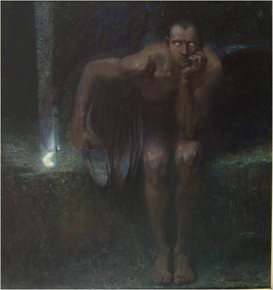Franz von Stuck, Lucifer, 1890, Sofia, National Gallery for Foreign Art.