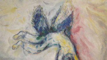 Marc Chagall, La Chute d'Icare, détail, 1974-1978, huile sur toile, Paris, Centre Pompidou.