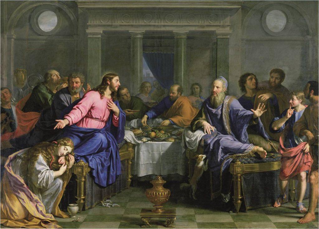 Philippe de Champaigne, Le Repas chez Simon, v. 1656, huile sur toile, 292 x 399 cm, Nantes, MBA.