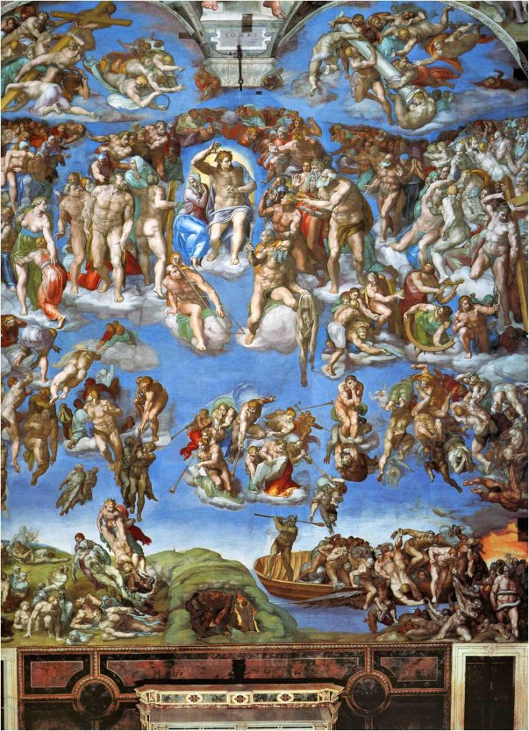 Michel-Ange, Le Jugement Dernier, 1536-1541, fresque, Vatican, Chapelle Sixtine.
