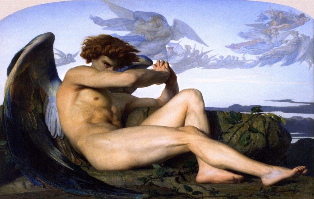 Fig. 7 : Alexandre Cabanel, Ange déchu, 1847, huile sur toile, 120.5 x 196.5 cm, Montpellier, Musée Fabre.