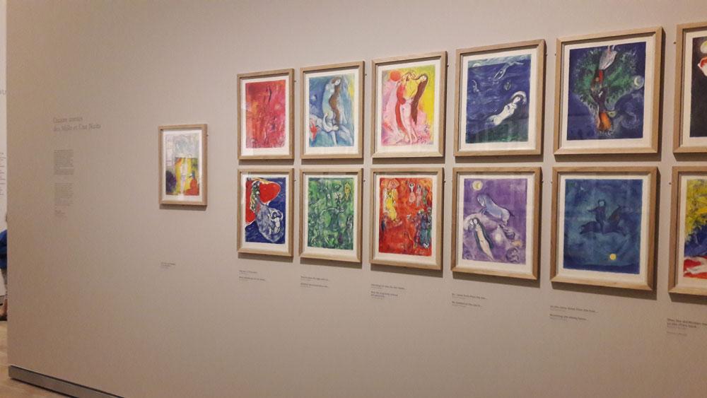 Illustrations pour les Mille et unes nuits, Exposition Chagall, de la poésie à la peinture, Landerneau, Fonds Hélène et Edouard Leclerc, 2016