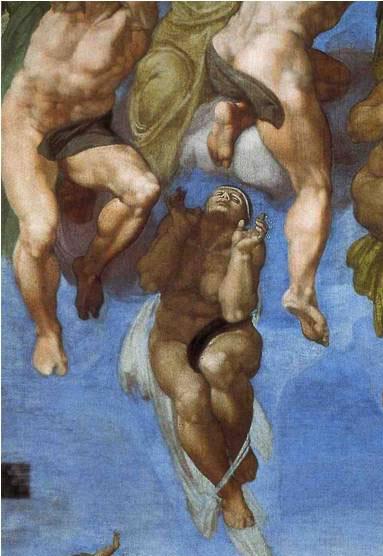 Fig. 4 : Michel-Ange, Le Jugement Dernier, détail des ressuscités, 1536-1541, fresque, Vatican, Chapelle Sixtine.