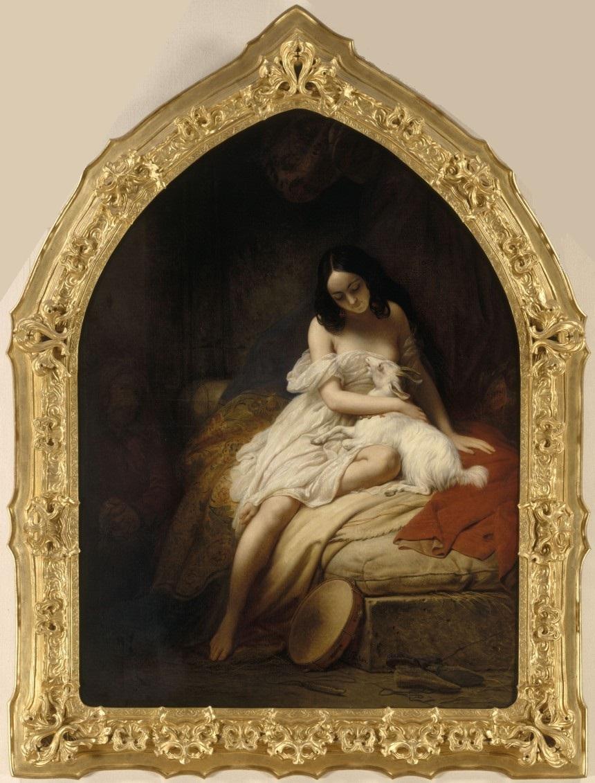 Charles Steuben, Esmeralda, 1839, huile sur toile, 195 x 144 cm, Nantes, MBA
