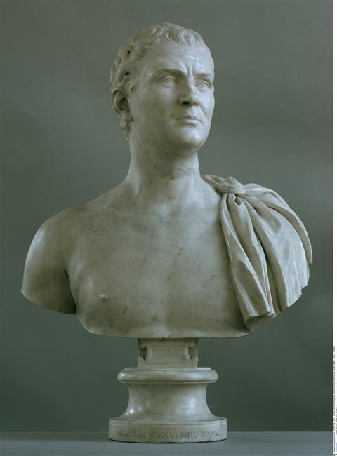 Edme Bouchardon, Buste du baron Philipp von Stosch, marbre, Berlin, Skulpturensammlung und Museum für Byzantinische Kunst;