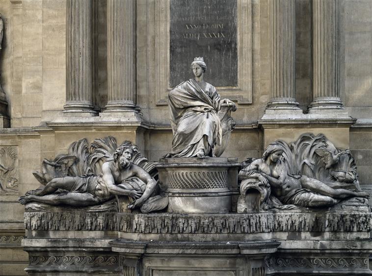 Edme Bouchardon, Fontaine des quatre saisons, rue de Grenelle, 1739-1747, Paris.