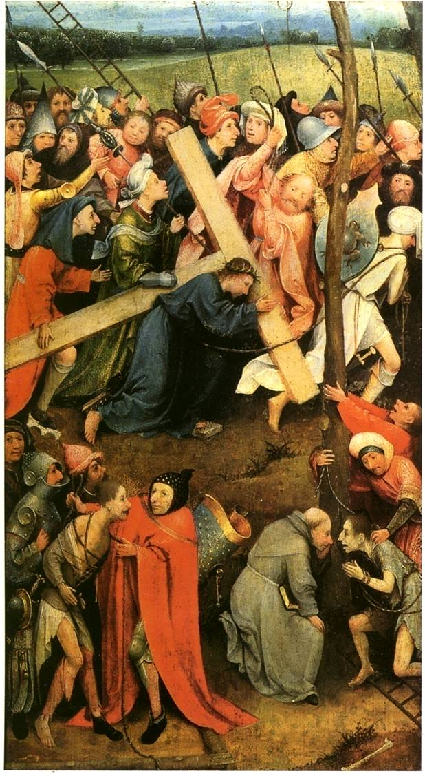 Jérôme Bosch, La Montée au Calvaire, 1490-1500, huile sur bois, 59.7 x 32 cm, Vienne, Kunsthistorisches Museum