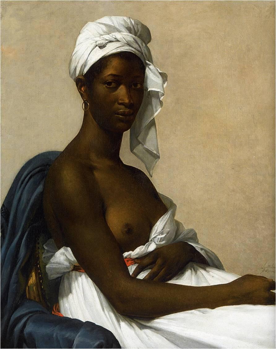 Marie-Guillemine Benoist, née Leroulx-Delaville, Portrait d'une femme noire, v. 1800, 81 x 65 cm, Paris, Louvre.