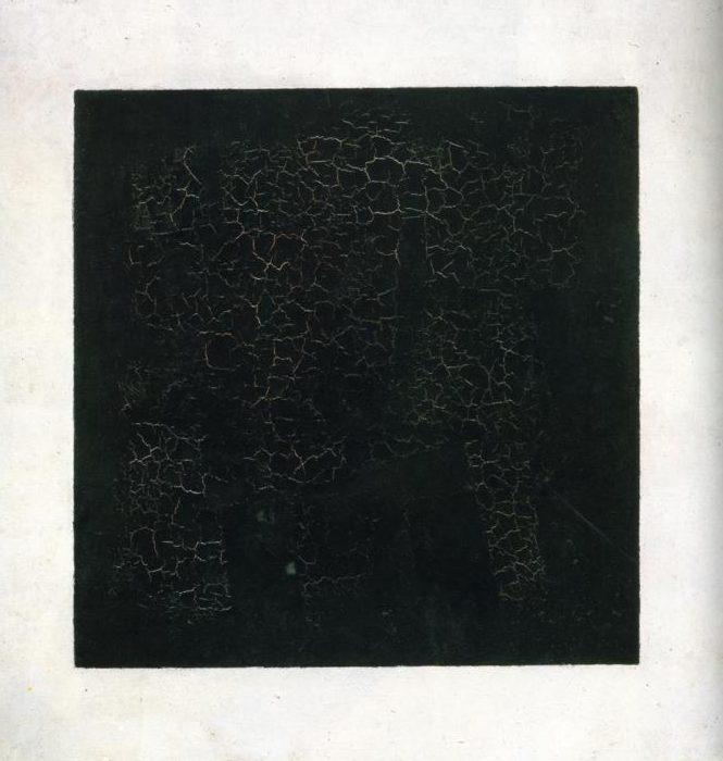 Fig. 12 : Kasimir Malevitch, Carré noir sur fond blanc, huile sur toile, 106,2 x 106,5 cm, Musée Russe, Saint-Pétersbourg